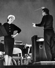 TDO Co-founder Nicola Rescigno on stage with legendary soprano Maria Callas